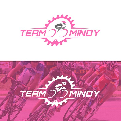 Cancer design with the title 'Ribbon Cycling Logo Concept'