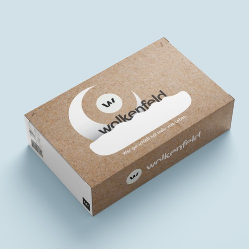 Flat packaging with the title 'Calm and smooth package design'
