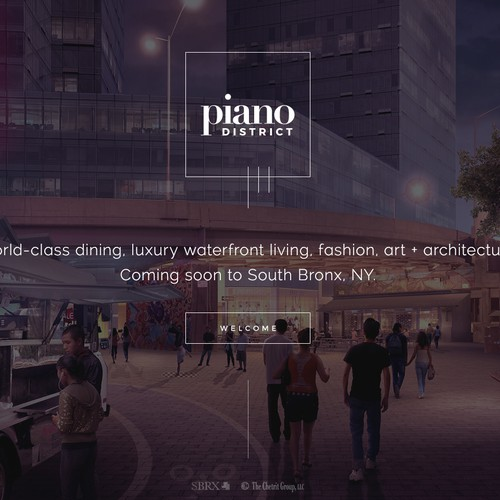 Luxury website with the title 'Home page for a luxury waterfront development.'