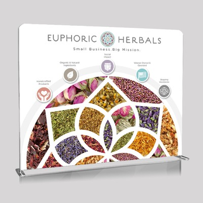 EUPHORIC HERBALS trade show backdrop