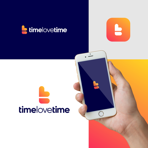 Time design with the title 'initial letter t+love logo design for timelovetime'
