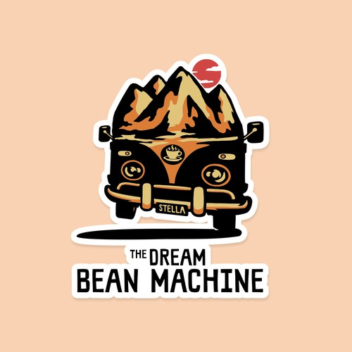 Hiking design with the title 'The Dream Bean Machine v.2'