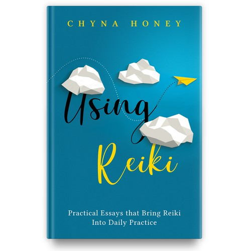 Reiki design with the title ' Insightful & lighthearted book on Reiki'