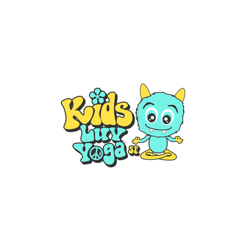 Delight logo with the title 'Logo Kids Luv Yoga'