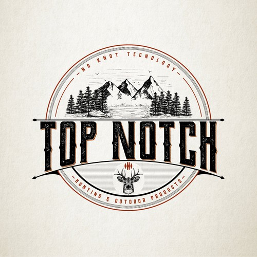 Fishing logo with the title 'Logo for TOP NOTCH'