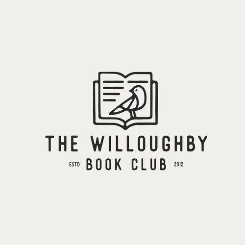 Retail logo with the title 'The Willoughby Book Club'
