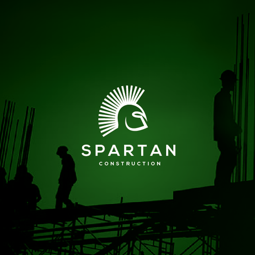 Print design with the title 'Spartan Construction'