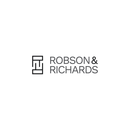 Concrete logo with the title 'Logo concept for 'Robson & Richards''