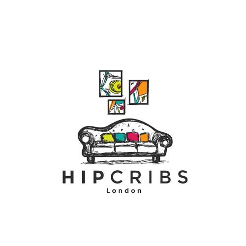 Contemporary logo with the title 'fun sofa design'