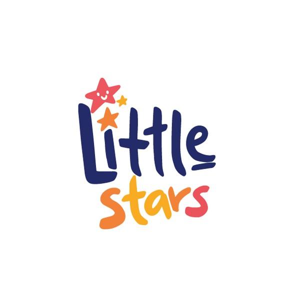 Kindergarten logo with the title 'Little stars '