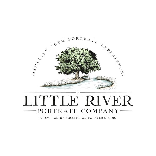 River logo with the title 'Logo for Little River Portrait Co.'
