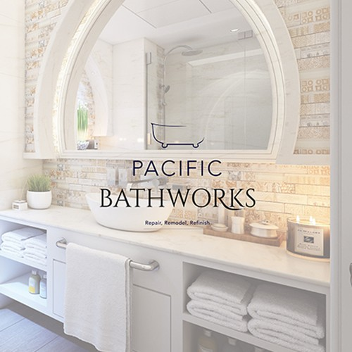 Bathtub design with the title 'Pacific Bathworks'
