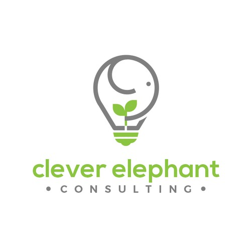 Intelligence logo with the title 'Logo Design for Clever Elephant'