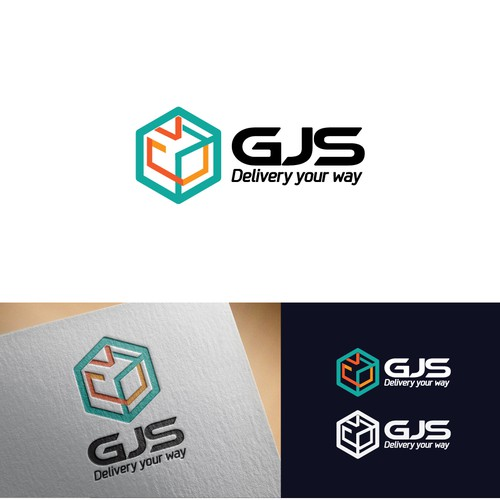 Transportation brand with the title 'Package delivery logo concept'