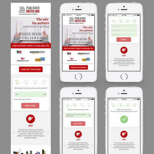 Mobile-first design with the title 'Mobile First Landing Page for Lead Generation'