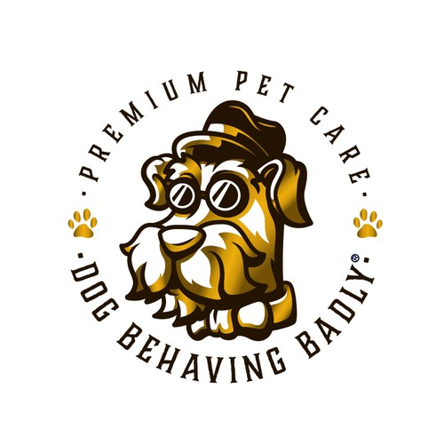 Slick design with the title 'DOG BEHAVING BADLY'
