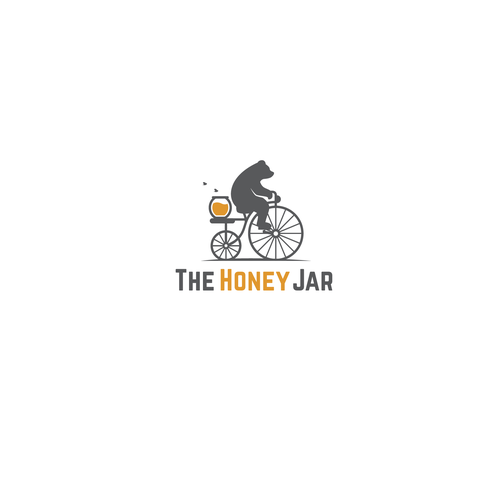 Bike logo with the title 'Honey jar'