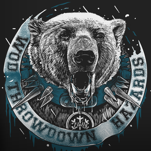 Snow design with the title 'WOD THROWDOWN_LOW TEMPERATURE'