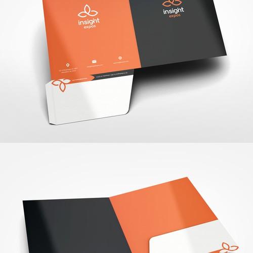 Media design with the title 'Presentation Folder Design'