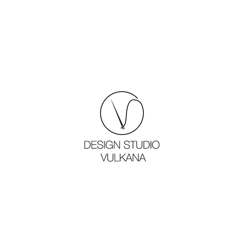 Fabric design with the title 'New logo wanted for Design Studio Vulkana'