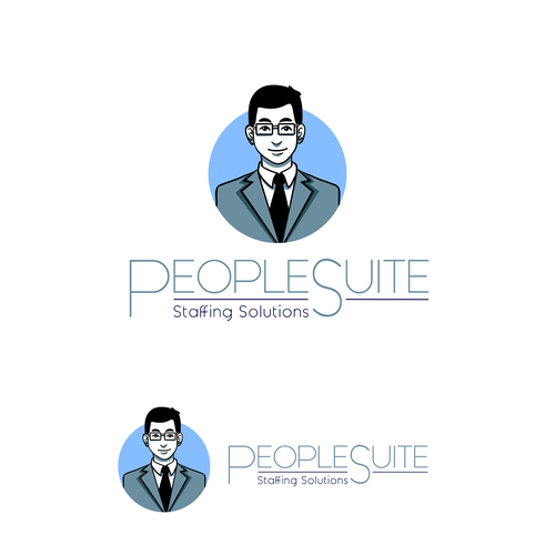 Outsourcing logo with the title 'logo design for People Suite'