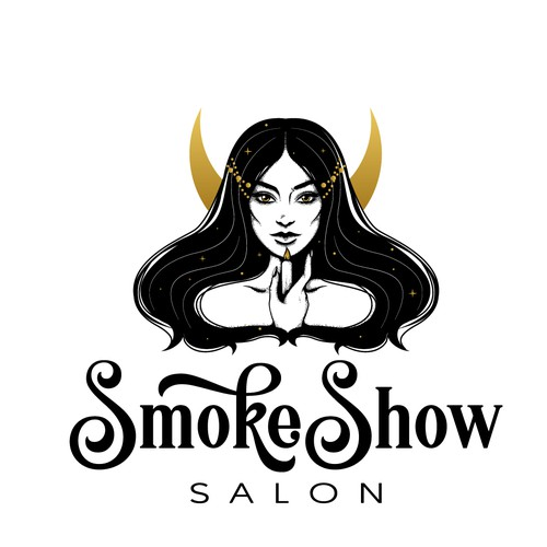 Witch design with the title 'Logo design for beauty salon'