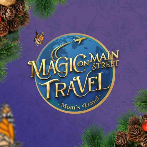 Disney design with the title 'Magic on Main Street Travel'