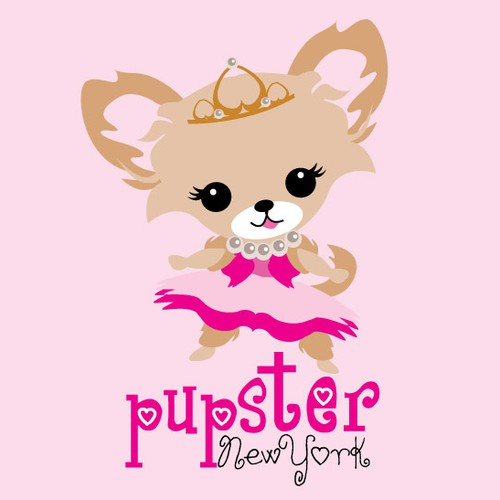 Childish logo with the title 'Pupster New York'