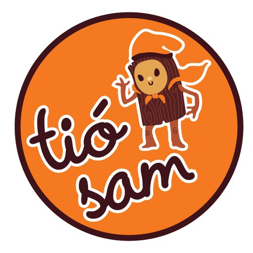 Orange illustration with the title 'Toy Store Mascot & Logo'