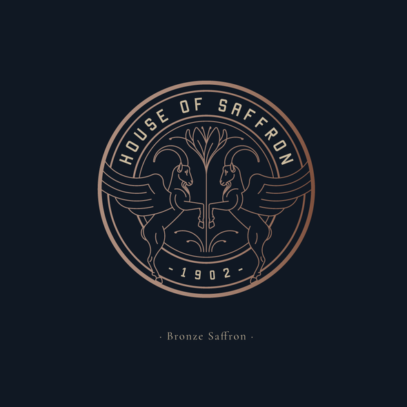 Ibex logo with the title 'Logo design for House Of Saffron'