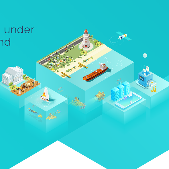 Ecosystem design with the title 'ICO Website, Illustrations Design and HTML'