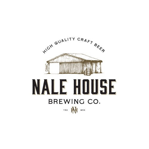 Rustic logo with the title 'Nale House brewing co.'