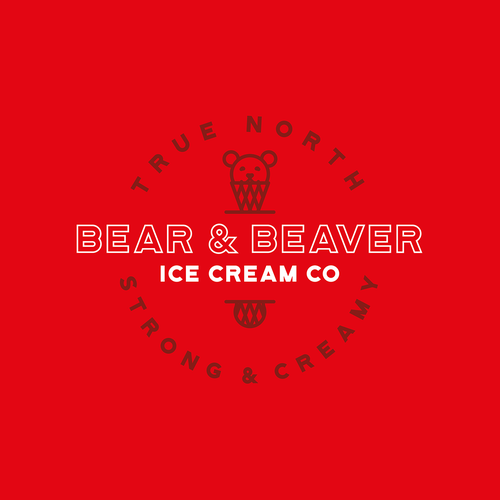 Canadian design with the title 'Canadian ice cream'