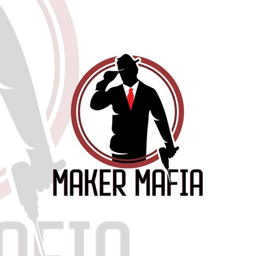 Drill logo with the title 'Maker Mafia Logo'