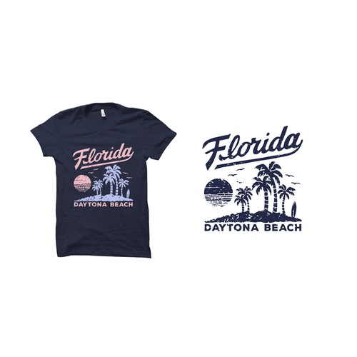 Souvenir design with the title 'FLORIDA T-Shirt Design'