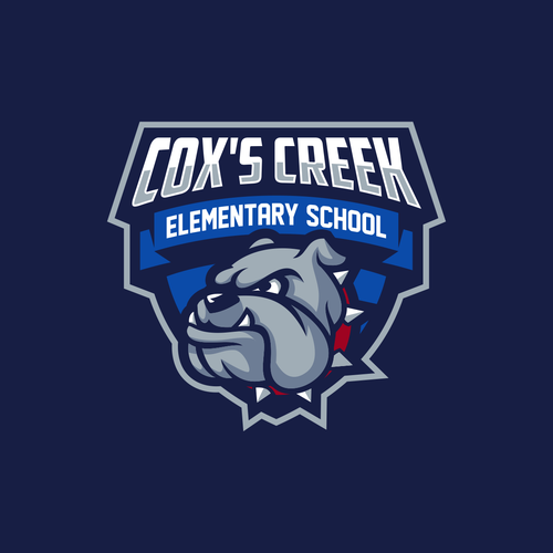 Bulldog design with the title 'Logo for Cox's creek Elementary school'
