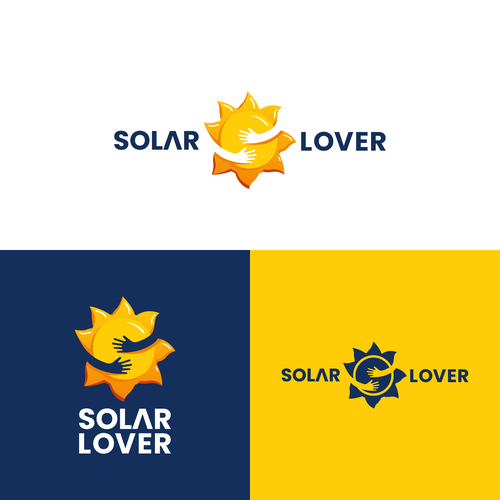 Solar company logo with the title 'Solar Lover'