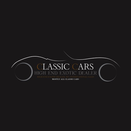 Dealer logo with the title 'Classic Cars Logo Design.'