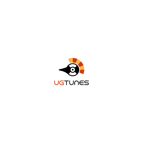 Crane design with the title 'Logo for Music App'