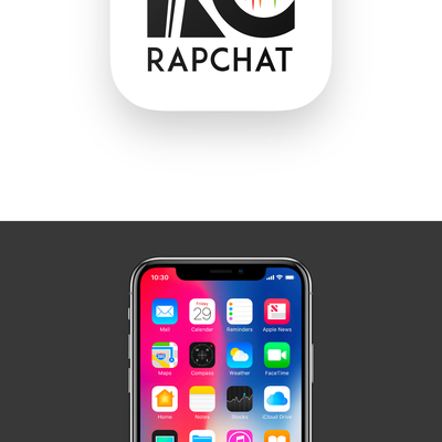 icon design concept for rapchat
