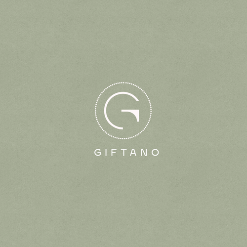 Invitation logo with the title 'Elegant logo concept for giftano'
