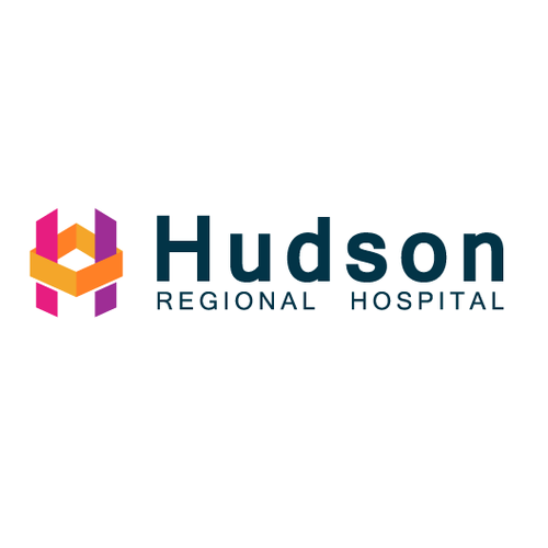 Pink and yellow logo with the title 'Hospital Logo'