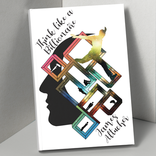 Trippy design with the title 'Book cover'