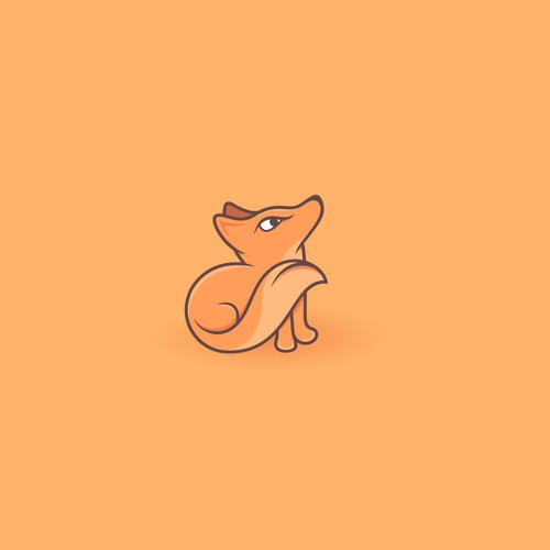 Imagine logo with the title ' little cute fox'