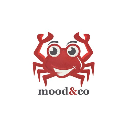 Crab logo with the title 'mood & co'