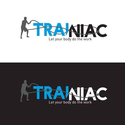 Battle logo with the title 'Logo for a fitness instructor'
