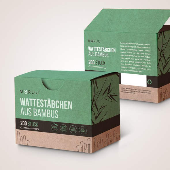 Bamboo packaging with the title 'package and Logo design'