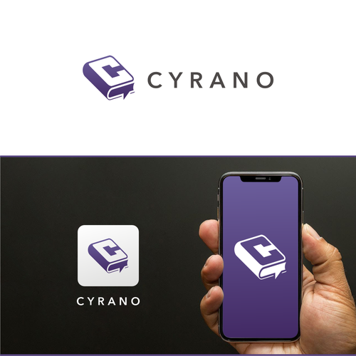 Language school logo with the title 'Cyrano'