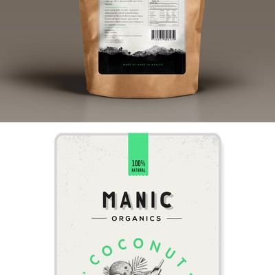 minimal & organic label design