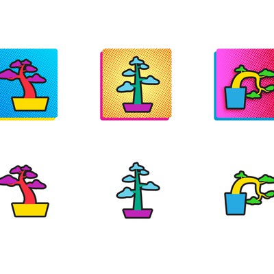 POP Bonsai Vector Illustration